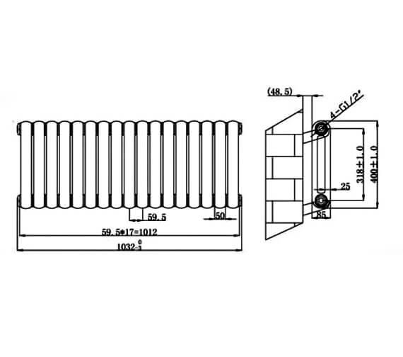 Technical drawing QS-V75925 / RA140