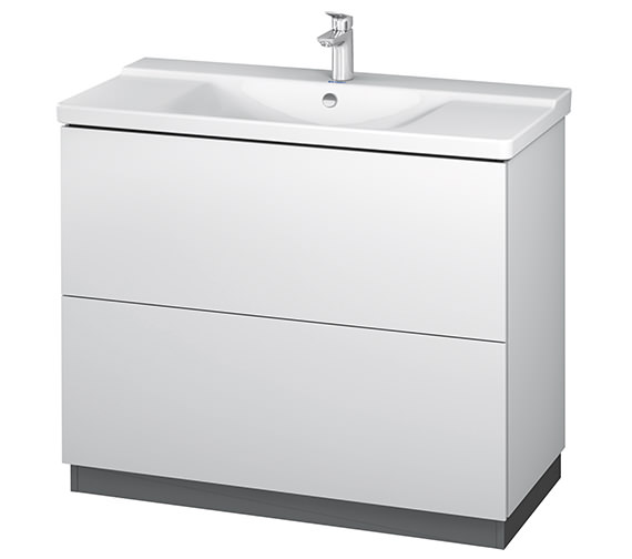 Duravit L-Cube 1020mm Floor Standing Vanity Unit With Plinth Panel