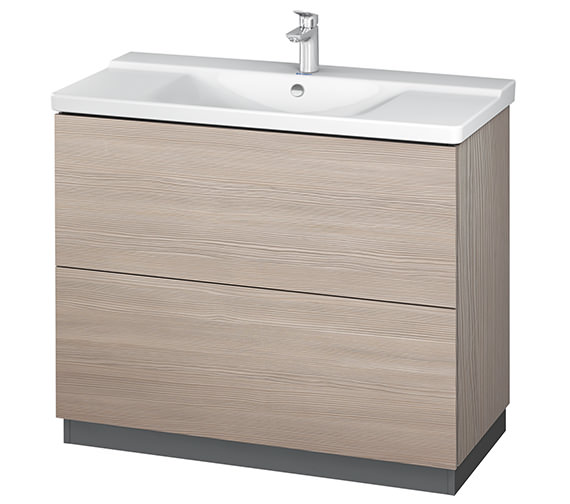 Additional image of Duravit L-Cube 1020mm Floor Standing Vanity Unit With Plinth Panel
