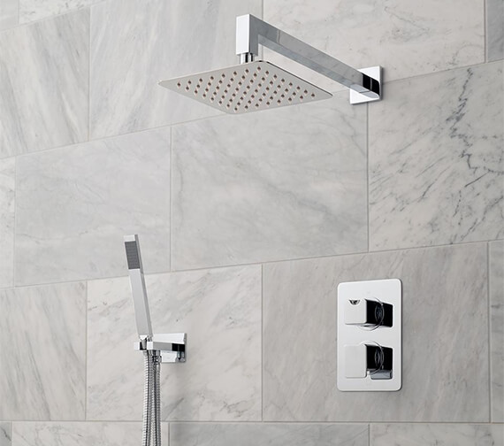 Vado Phase 2 Outlet Thermostatic Shower Package With Mini Shower Kit