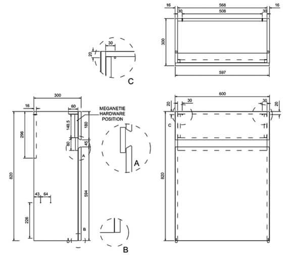 Technical drawing QS-V8087 / AB31W