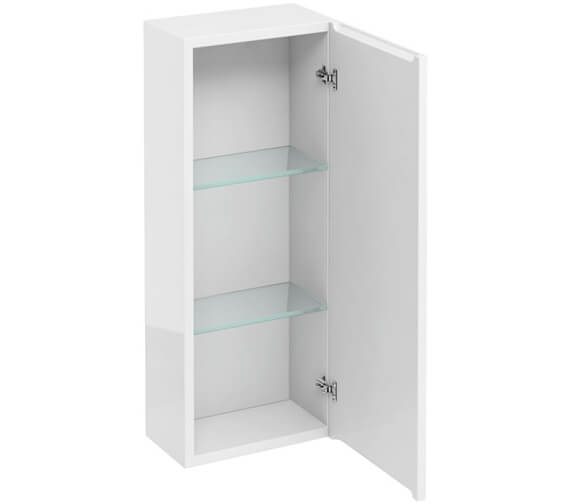 Britton 300mm Single Door Wall Hung White Cabinet