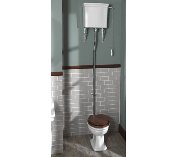 Silverdale Loxley High Level Pan And Cistern White