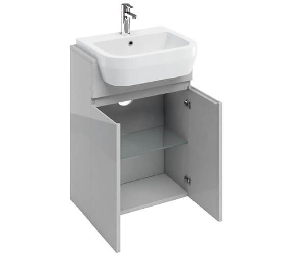Additional image of Britton D30 600mm Semi Recessed Basin Unit White