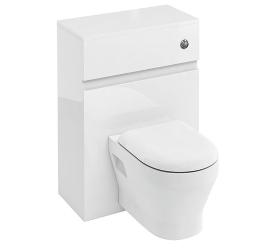 Britton D30 600mm Back To Wall WC Unit With Cistern And Flush Button