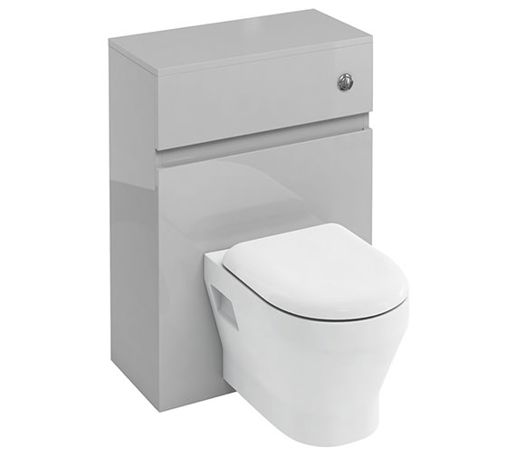 Additional image of Britton D30 600mm Back To Wall WC Unit With Cistern And Flush Button