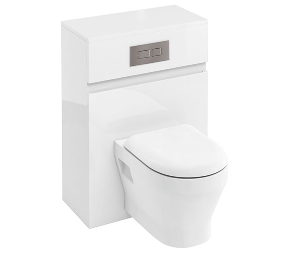 Britton D30 600mm Back To Wall WC Unit With Cistern White