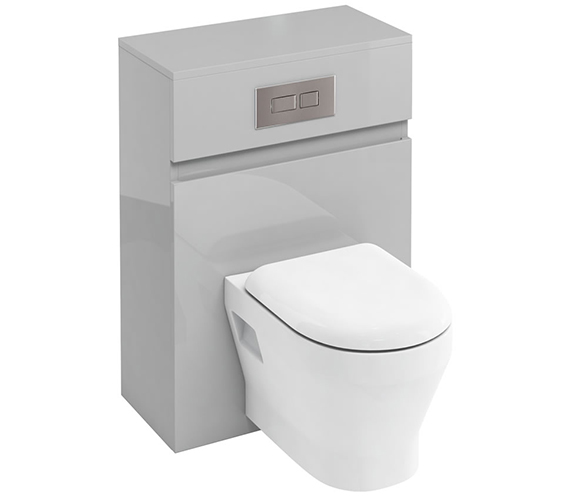 Additional image of Britton D30 600mm Back To Wall WC Unit With Cistern White