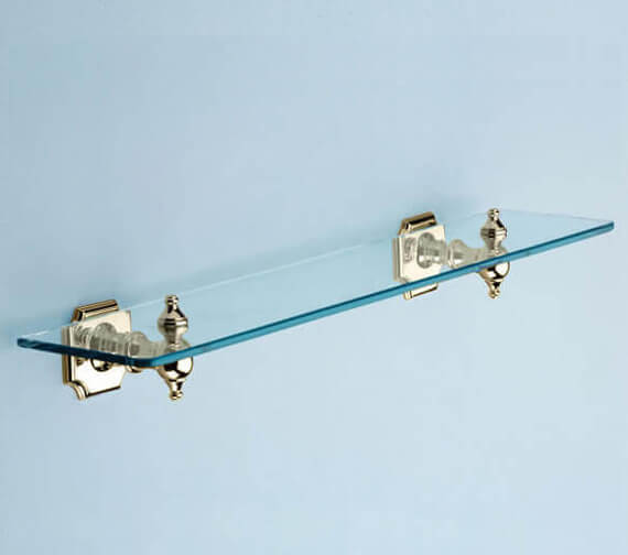 Alternate image of Silverdale Victorian Luxury 495mm Glass Shelf Chrome