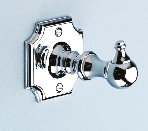 Silverdale Victorian Luxury Traditional Robe Hook Chrome