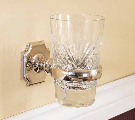 Silverdale Victorian Tumbler Glass Holder Nickel - Incalux And Chrome Finish Available