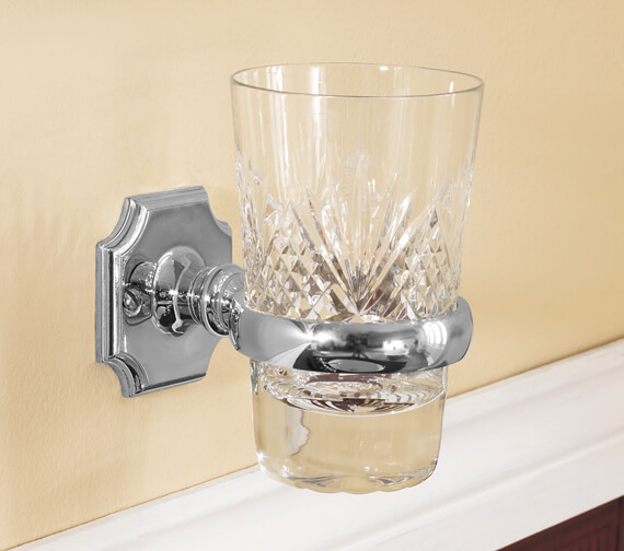 Alternate image of Silverdale Victorian Tumbler Glass Holder Nickel - Incalux And Chrome Finish Available