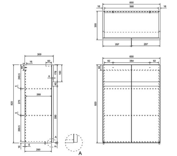 Technical drawing QS-V17470 / AD33W