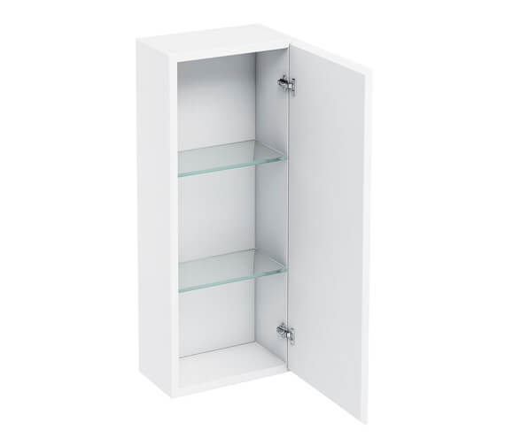 Britton 300mm Single Mirrored Door Wall Hung Cabinet White