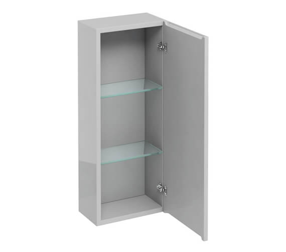 Additional image of Britton 300mm Single Mirrored Door Wall Hung Cabinet White