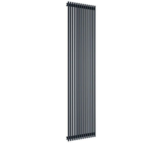 Reina Tubes 350 x 1800mm Black Single Panel Steel Designer Radiator