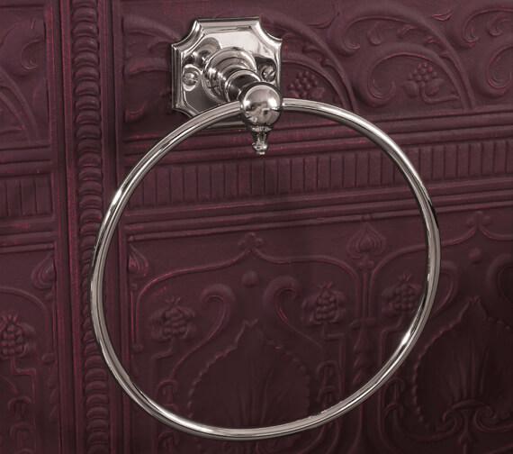 Alternate image of Silverdale Victorian Towel Ring Nickel