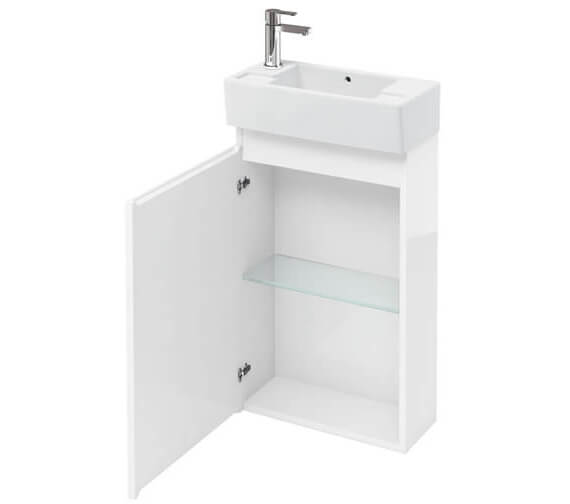 Britton Compact 250mm Floor Standing White Unit