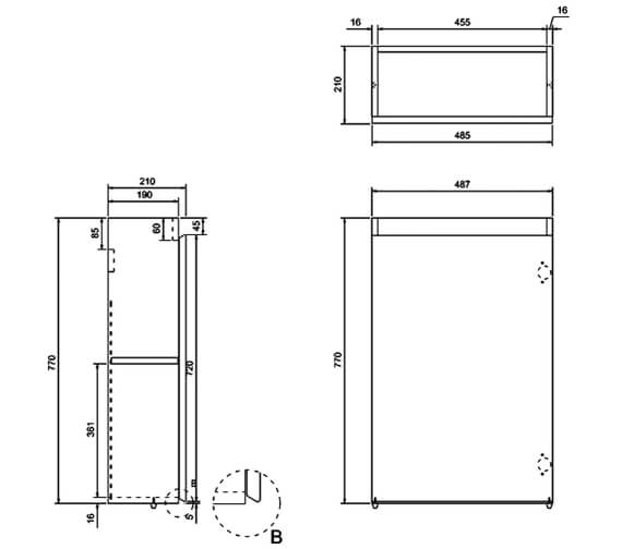 Technical drawing QS-V17488 / AR20W