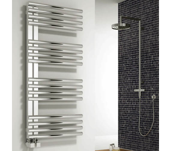 Reina Adora 500mm Wide Polished Stainless Steel Designer Radiator