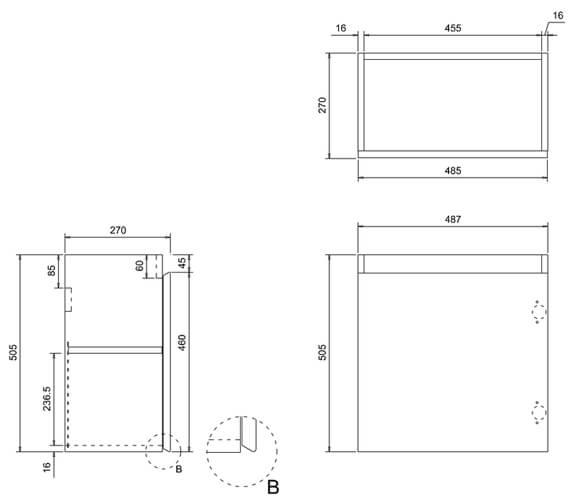 Technical drawing QS-V17483 / AR30W