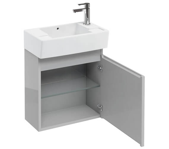Additional image of Britton Compact 500 x 270mm White Wall Hung Unit