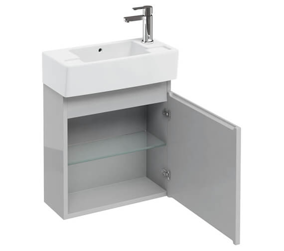 Additional image of Britton Compact 500 x 210mm White Wall Hung Unit