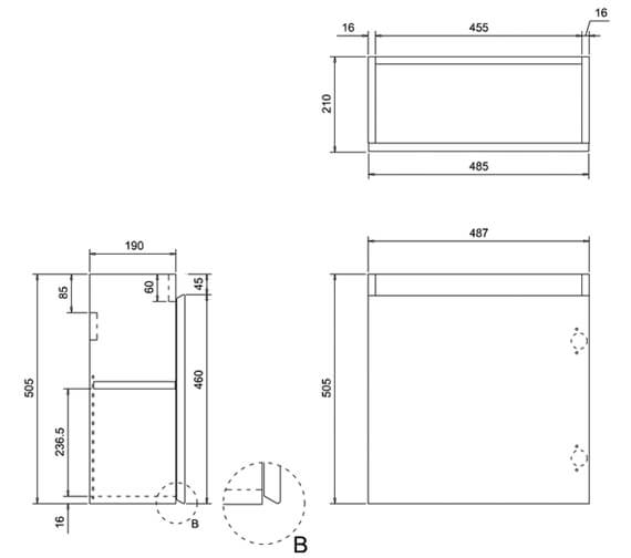 Technical drawing QS-V17485 / AR10W