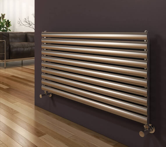 Alternate image of Reina Artena 590mm High Single Panel Radiator In Polished Or Brushed Finish 400mm Wide