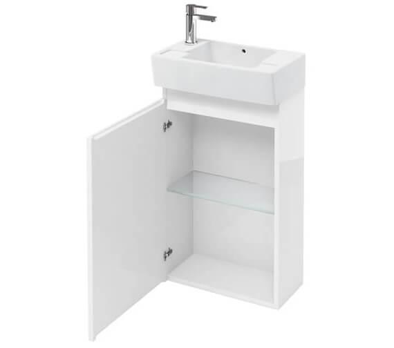 Britton Compact 487 x 270 x 770mm Floor Standing White Unit