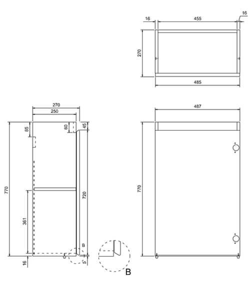 Technical drawing QS-V17490 / AR40W