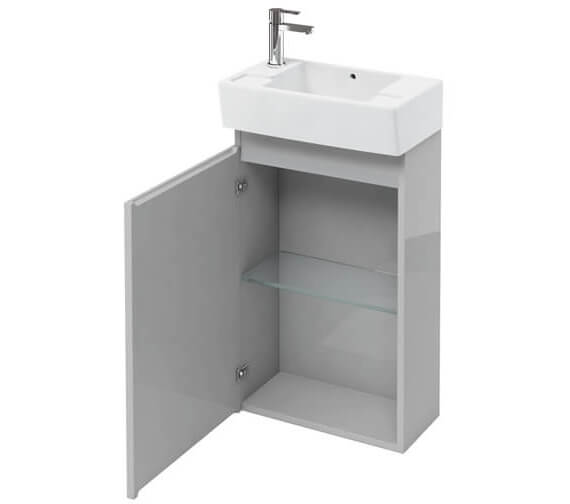 Additional image of Britton Compact 487 x 270 x 770mm Floor Standing White Unit
