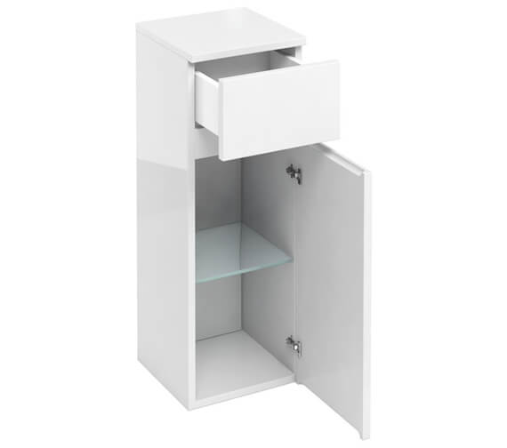 Britton Compact D30 300mm Single Door Unit With Drawer White  - AD32W