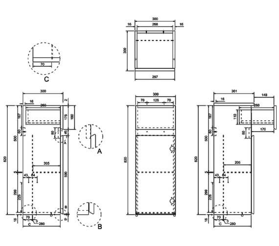 Technical drawing QS-V17473 / AD32G