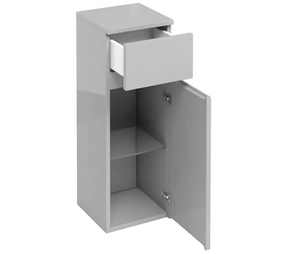 Additional image of Britton Compact D30 300mm Single Door Unit With Drawer White  - AD32W