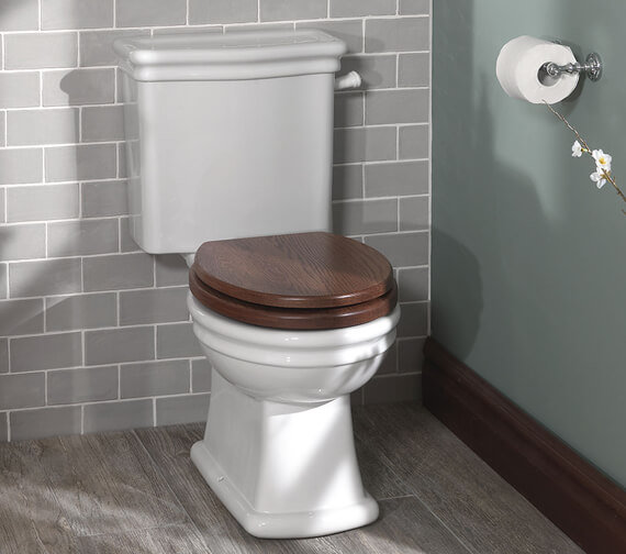 Silverdale Loxley Closed Coupled WC Pan And Cistern White