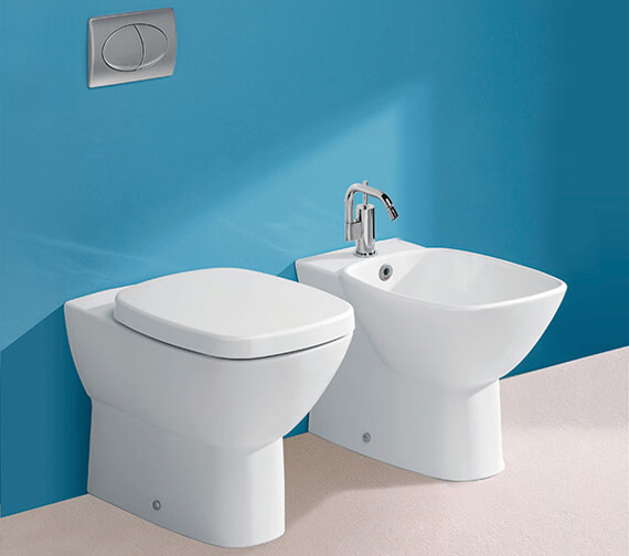 Silverdale Ascot Back To Wall WC With Soft Closing Seat White