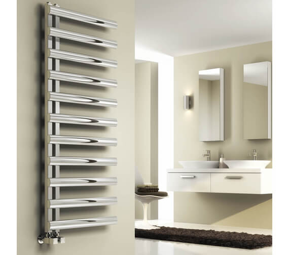 Alternate image of Reina Cavo 500 x 880mm Polished Designer Radiator