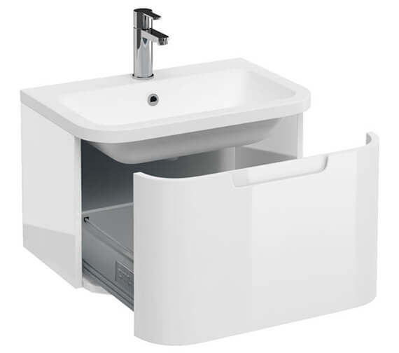 Britton Compact Single Drawer White Vanity Unit With Basin
