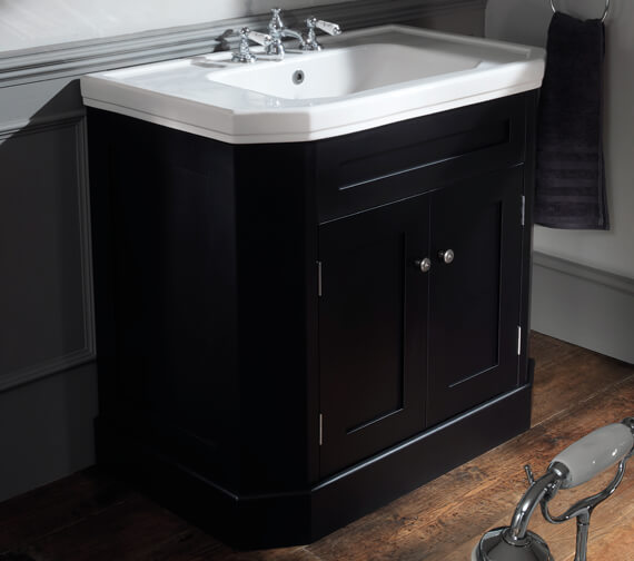 Silverdale Empire 920mm Cabinet And 3 Tap Holes White Basin