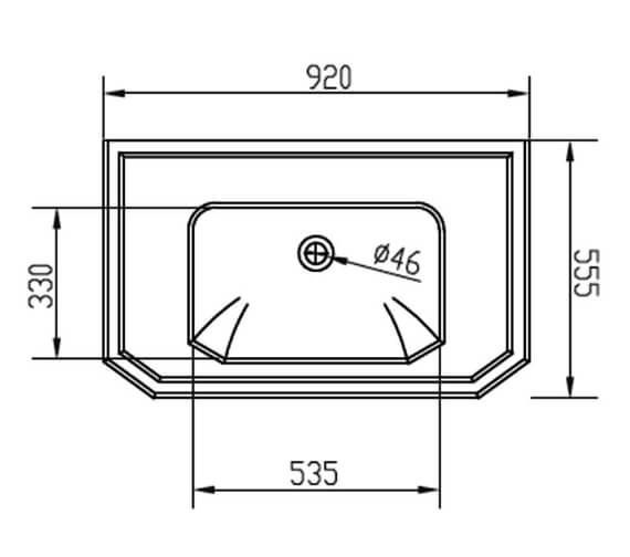 Technical drawing QS-V95136 / EMBLK9203TH