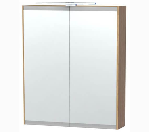 Miller London 60 Oak Double Door Mirror Cabinet 590 x 700mm