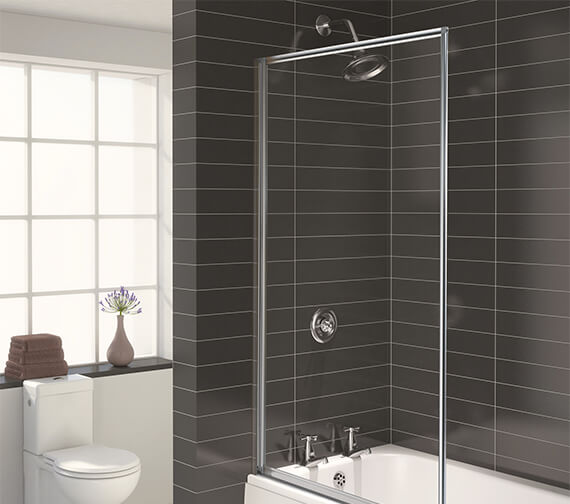 Aqualux Aqua 3 Fully Framed Bath Screen White