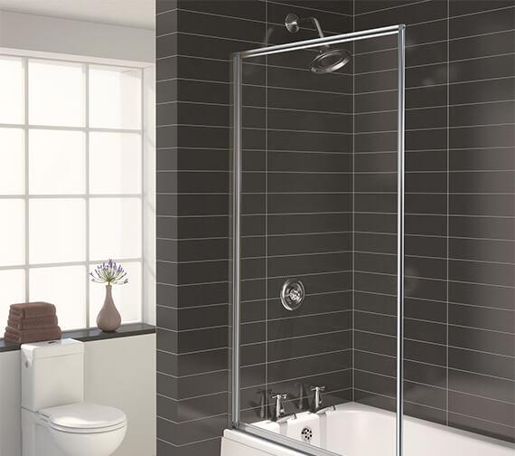 Aqualux Aqua 3 Fully Framed Bath Screen White - FS6456AQU