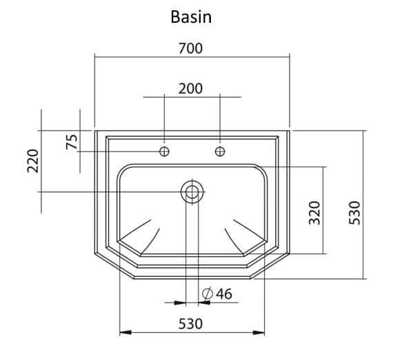 Technical drawing QS-V95134 / EMBLK7003TH