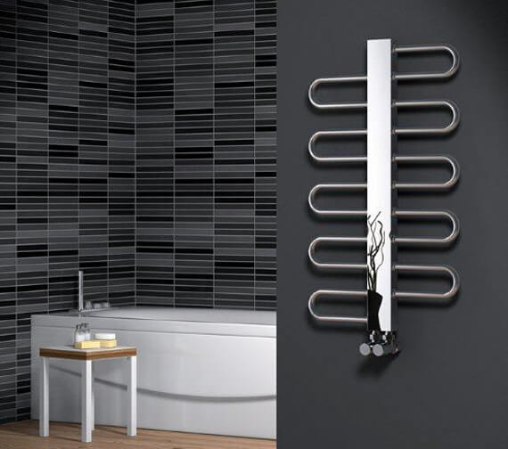 Reina Dynamic 500mm Wide Polished Designer Radiator