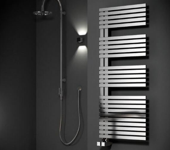 Alternate image of Reina Entice 500mm Wide Stainless Steel Designer Radiator - Available 770 - 1200 - 1700mm Heights