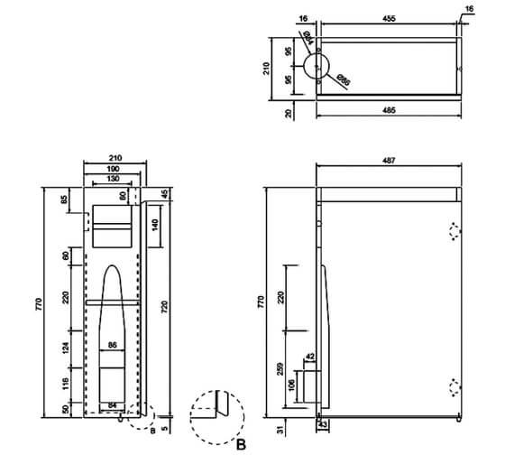 Technical drawing QS-V17481 / AR50W