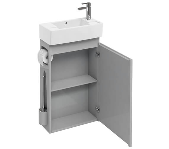 Additional image of Britton All In One Floor Standing Unit With Brush And Paper Holder