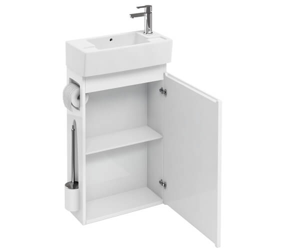 Britton All In One Floor Standing Unit With Brush And Paper Holder